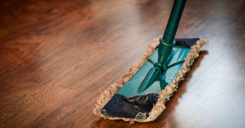 Mop on the floor